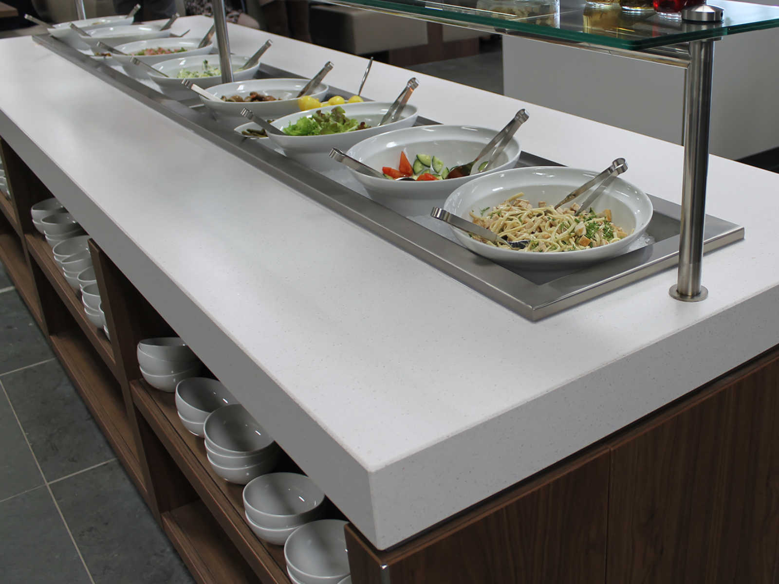 Horeca 14081 Provinciehuis Noord Brabant uitgifte salade 1600-1200